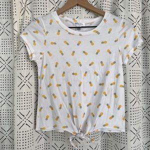 Tie Front Pineapple Top